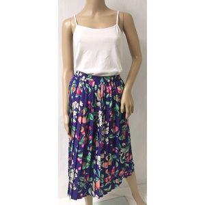 Purple Pleated Skirt Size 8